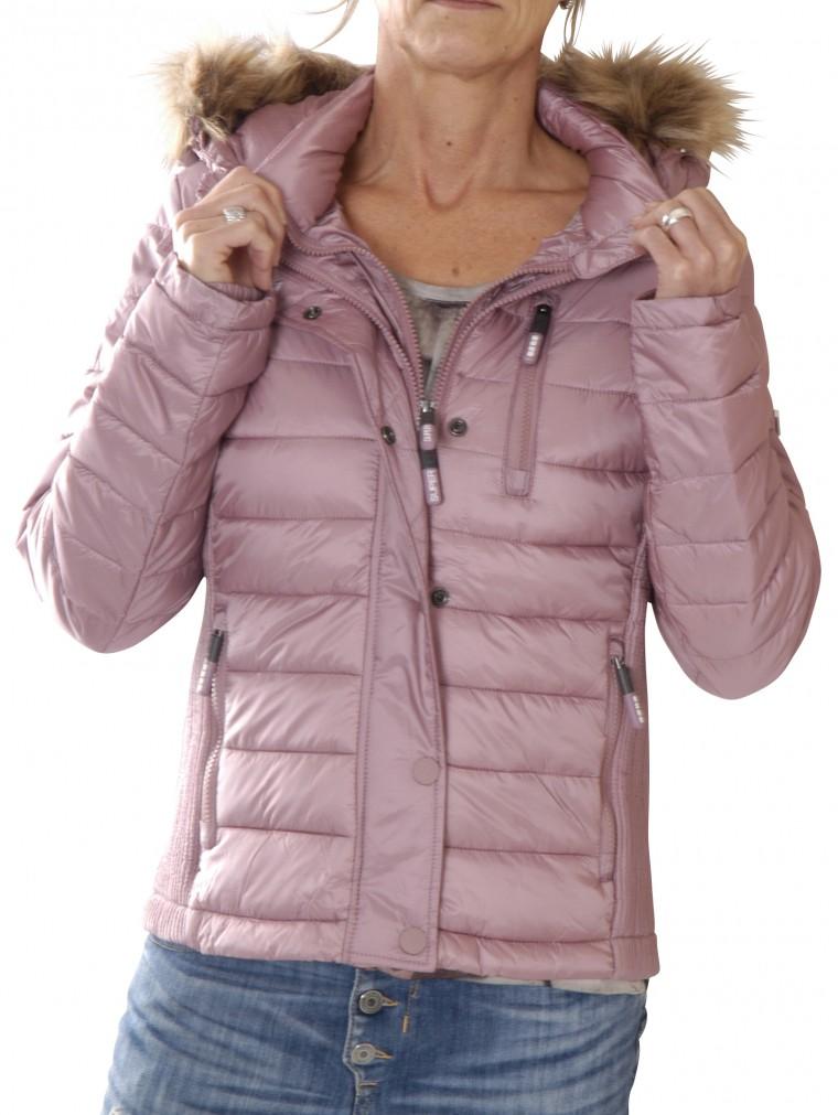 superdry damen steppjacke rosa