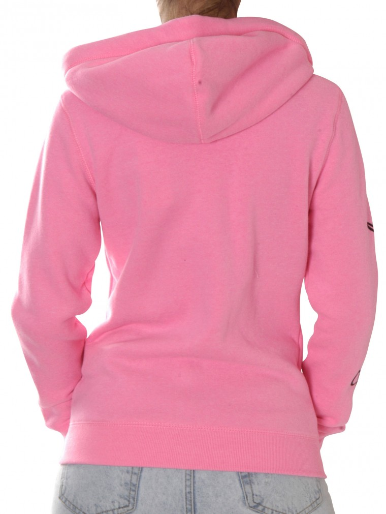 superdry applique ziphood sweater fleece pink yam yam. Black Bedroom Furniture Sets. Home Design Ideas