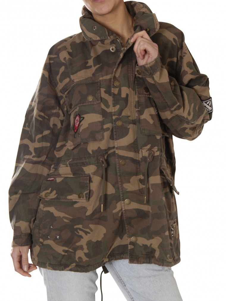 superdry ROOKIE OVERSIZED JACKET Jacken camouflage